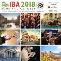 logo IBA Annual Conference Rome October 2018