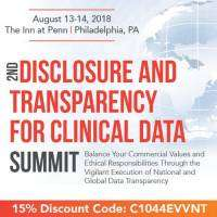 logo 2nd Disclosure and Transparency for Clinical Data Summit