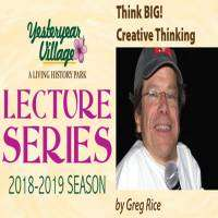 logo Yesteryear Vllage Lecture Series featuring Greg Rice