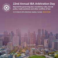 logo Arbitration Day, March 2019, Montreal