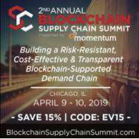 logo Blockchain Supply Chain Summit, Chicago, IL, April 9-10, 2019