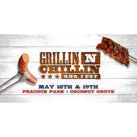 logo Grillin N Chillin BBQ Fest at Peacock Park in Miami - May 2019