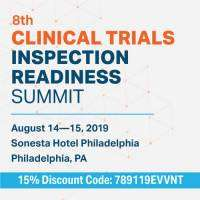 logo 8th Clinical Trials Inspection Readiness Summit
