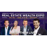 logo Real Estate Wealth Expo with Tony Robbins, Robert Herjavec and James Harris