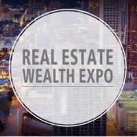 logo Real Estate Wealth Expo with Tony Robbins, Robert Herjavec & James Harris