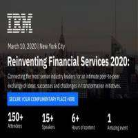 logo IBM's Reinventing Financial Services Conference, March 2020, New York City
