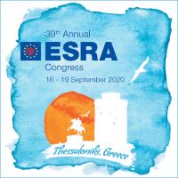 39th Annual ESRA Congress (ESRA 2020) | Thessaloniki, Greece