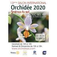 logo 13ème Salon International Orchidée - Senteurs du Sud