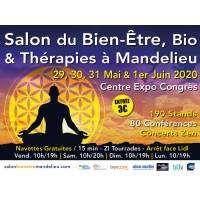 logo Salon du Bien-être, Bio et Thérapies Mandelieu 2020