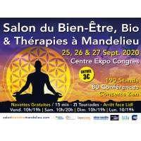 logo Salon du Bien-être, Bio et Thérapies Mandelieu